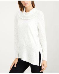 Calvin Klein - Sparkle Fleck Turtleneck Sweater - Lyst