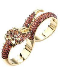 Noir Jewelry - Cubic Zirconia Dragon Statement Ring - Lyst