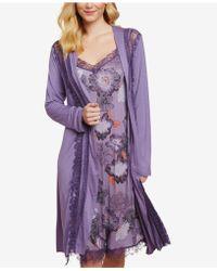 Jessica Simpson - Nursing Lace-trim Belted Robe - Lyst