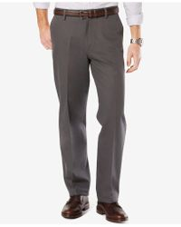 Dockers - Men's Signature Relaxed-fit Khaki Flat-front Stretch Pants - Lyst