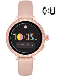 Kate Spade - Blush Leather Scallop Smartwatch 2 - Lyst