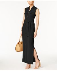 Olivia & Grace - Belted Maxi Shirtdress - Lyst