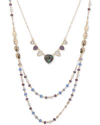 "Lonna & Lilly - Gold-tone Pavé, Stone & Bead 18"" 2-in-1 Necklace - Lyst"