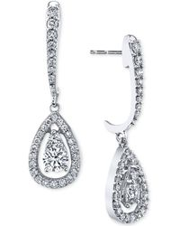 Macy's - Diamond Orbital Teardrop Drop Earrings (1 Ct. T.w.) In 14k White Gold - Lyst