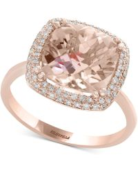 Effy Collection - Blush By Effy® Morganite (3-5/8 Ct. T.w.) & Diamond (1/4 Ct. T.w.) Ring In 14k Rose Gold - Lyst