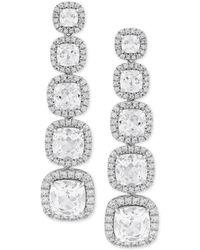 Arabella - Cubic Zirconia Drop Earrings In Sterling Silver - Lyst