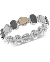 Nine West - Pavé Stretch Bracelet - Lyst