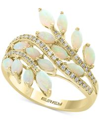 Effy Collection - Effy® Opal (1-1/3 Ct. T.w.) & Diamond (1/5 Ct. T.w.) Ring In 14k Gold - Lyst