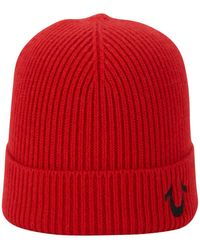 True Religion - Ribbed Knit Watchcap - Lyst