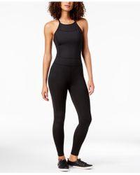 Calvin Klein - Performance Halter-neck Mesh-inset Jumpsuit - Lyst