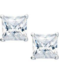 Giani Bernini - Sterling Silver Earrings, Square Cubic Zirconia Studs (3-1/3 Ct. T.w.) - Lyst