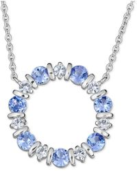 "Macy's - Tanzanite (2 Ct. T.w.) And White Sapphire (3/4 Ct. T.w.) 18"" Pendant Necklace In Sterling Silver - Lyst"
