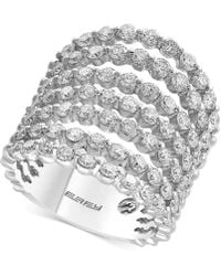 Effy Collection - Diamond Multi-layer Ring (2-3/4 Ct. T.w.) In 14k White Gold - Lyst