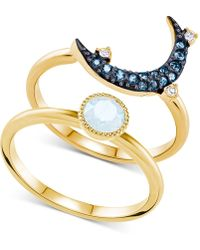 Swarovski - Two-tone 2-pc. Set Crystal & Moon Rings - Lyst