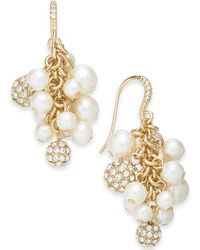 Charter Club - Gold-tone Imitation Pearl Shaky Drop Earrings, Created For Macy's - Lyst