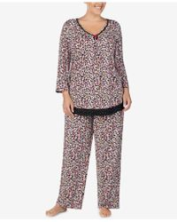 Ellen Tracy - Plus Size Printed Pajama Top - Lyst