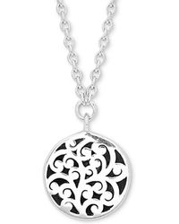 "Lois Hill - Scroll Work Disc 18"" Pendant Necklace In Sterling Silver - Lyst"