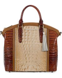 Brahmin - Medina Chino Duxbury Medium Satchel - Lyst