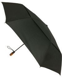 London Fog Wind Guard Auto Open Close Umbrella - Black