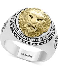 Effy Collection - Lion Head Ring In Sterling Silver & 18k Gold-plate - Lyst