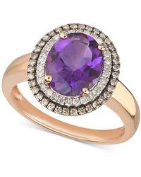 Macy's - Amethyst (2-1/3 Ct. T.w.) & Diamond (1/3 Ct. T.w.) Ring In 14k Rose Gold - Lyst