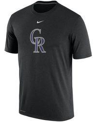 951c56e40 Nike Men s Long-sleeve Colorado Rockies Legend T-shirt in Black for ...