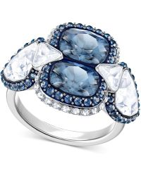 Swarovski - Silver-tone Clear & Color Crystal Ring - Lyst
