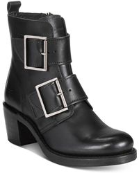 Frye - Women's Sabrina Double Buckle Moto Booties - Lyst