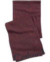 Calvin Klein - Men's Cutoff Logo Scarf - Lyst