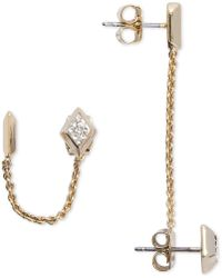 Vera Bradley | Gold-tone 4-pc. Set Crystal Chain And Stud Earrings | Lyst