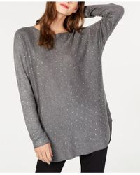 INC International Concepts - I.n.c. Petite Allover Rhinestone Shirttail Jumper, Created For Macy's - Lyst
