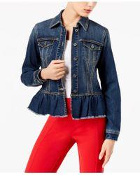 INC International Concepts - Ruffled Denim Jacket - Lyst
