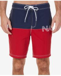 936ccd2f21 Lyst - Nautica Quick-dry Anchor-print 8