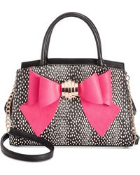Betsey Johnson - Removable Bow Medium Satchel - Lyst