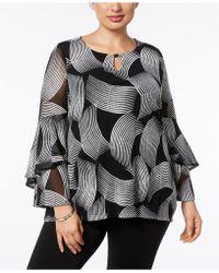 Alfani - Plus Size Ruffled-sleeve Top - Lyst