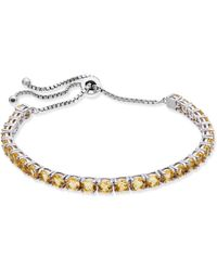 Macy's - Citrine Slider Bracelet In Sterling Silver (5-1/2 Ct. T.w.) - Lyst