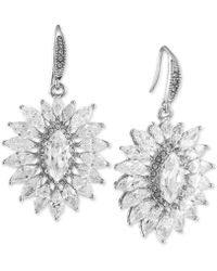 Carolee - Silver-tone Crystal Sunburst Earrings - Lyst