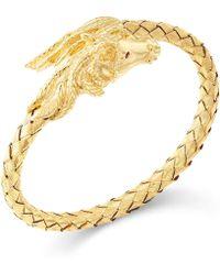 Macy's - Woven Horse Bangle Bracelet In 14k Gold Vermeil - Lyst