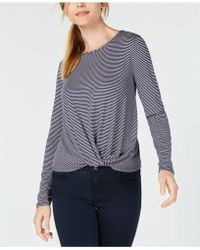 Maison Jules - Twisted Hem Top, Created For Macy's - Lyst