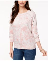 Style & Co. - Petite Printed Sweatshirt, Created For Macy's - Lyst