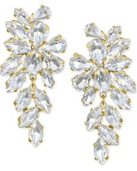 Badgley Mischka - Crystal Arch Drop Earrings - Lyst