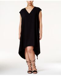 RACHEL Rachel Roy - Plus Size Sydney Sleeveless Handkerchief-hem Dress - Lyst