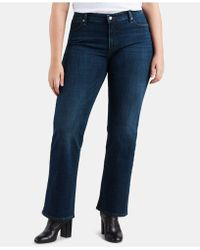 bda429ad Levi's Plus-size 315 Shaping Bootcut Jean in Blue - Lyst