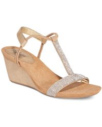 Style & Co.   Mulan 2 Embellished Evening Wedge Sandals, Created For Macy's   Lyst