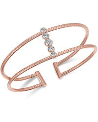 Danori - Crystal Pavé Open-style Flex Cuff Bracelet, Created For Macy's - Lyst