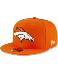 classic fit 37d53 00d09 KTZ - Denver Broncos Metal Thread 9fifty Snapback Cap - Lyst