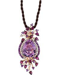 Le Vian - Multistone Cord Pendant Necklace In 14k Strawberry Rose Gold (18 Ct. T.w.) - Lyst
