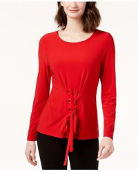 INC International Concepts   Corset-front Top, Created For Macy's   Lyst