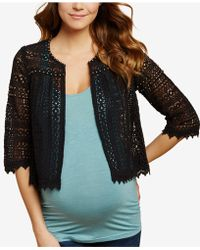 Jessica Simpson - Maternity Draped Cardigan - Lyst
