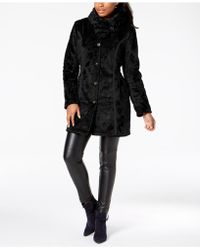 Laundry by Shelli Segal - Faux-fur Reversible Coat - Lyst